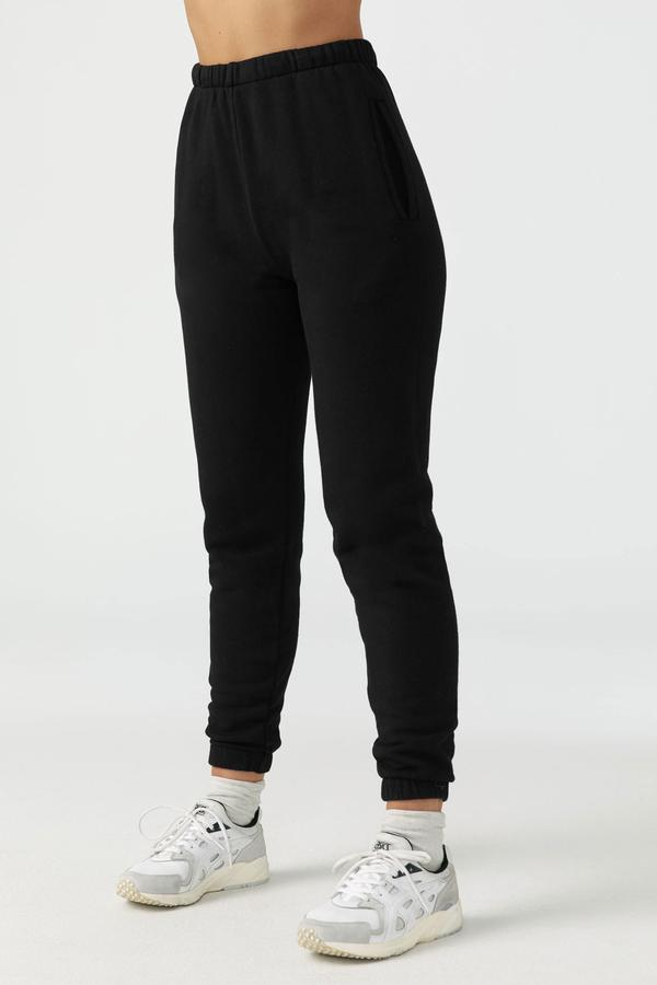 JOAH BROWN W'S PANTS BLACK XS/S EMPIRE JOGGER