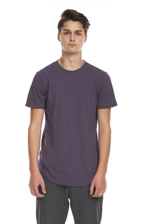 KUWALLA M'S T-SHIRTS DARK PURPLE S EAZY SCOOP TEE