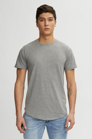 KUWALLA M'S T-SHIRTS HEATHER GREY XXL EAZY SCOOP TEE
