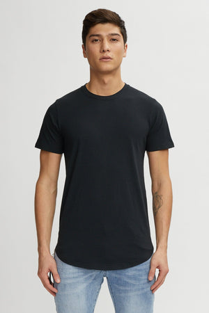 KUWALLA M'S T-SHIRTS BLACK S EAZY SCOOP TEE