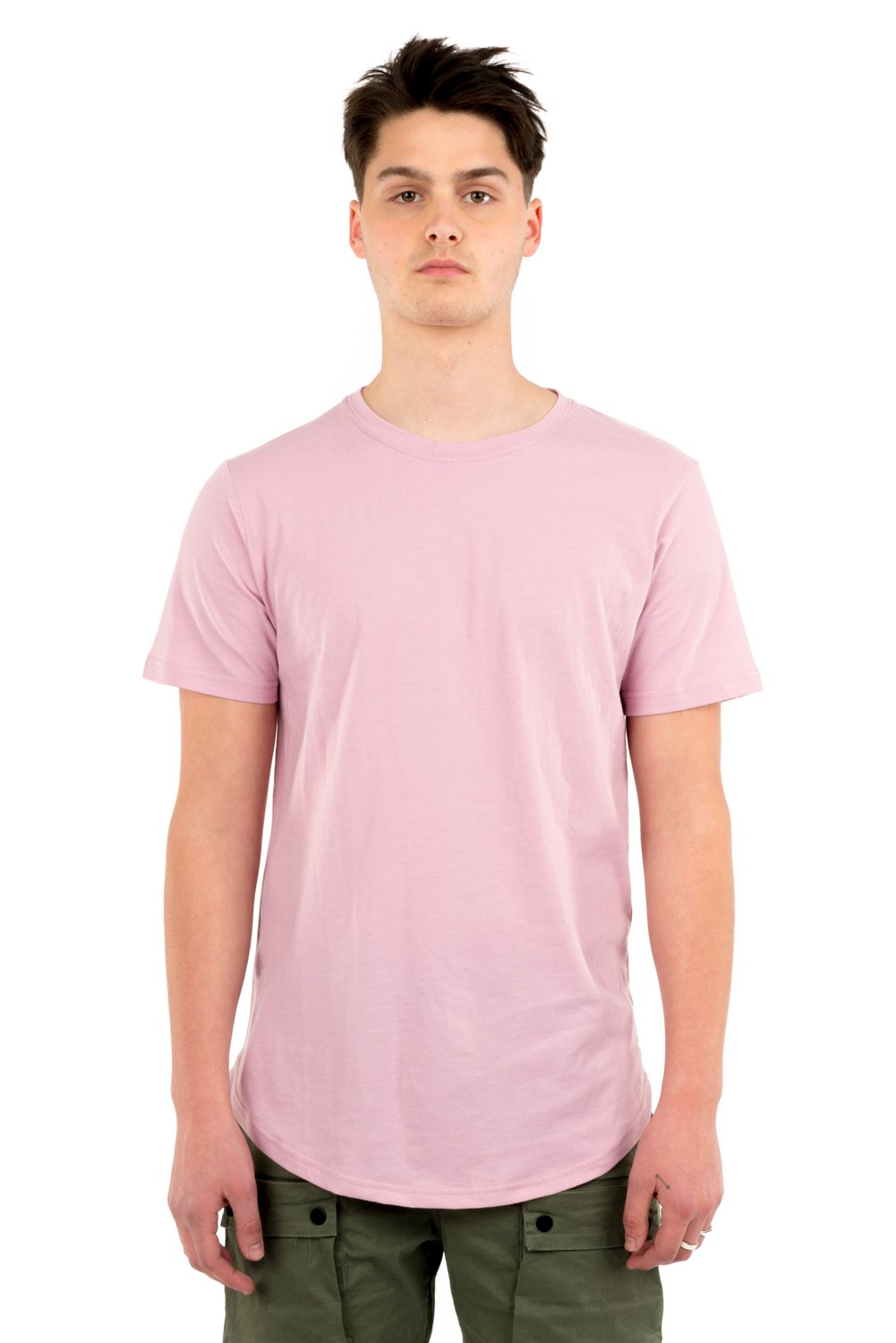 KUWALLA M'S T-SHIRTS DUSTY PINK S EAZY SCOOP TEE