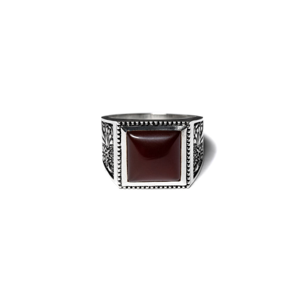 BUICK RING (SILVER/RED GARNET)