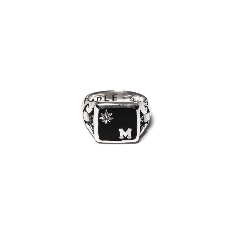 COLLEGIATE RING (SILVER/ONYX)