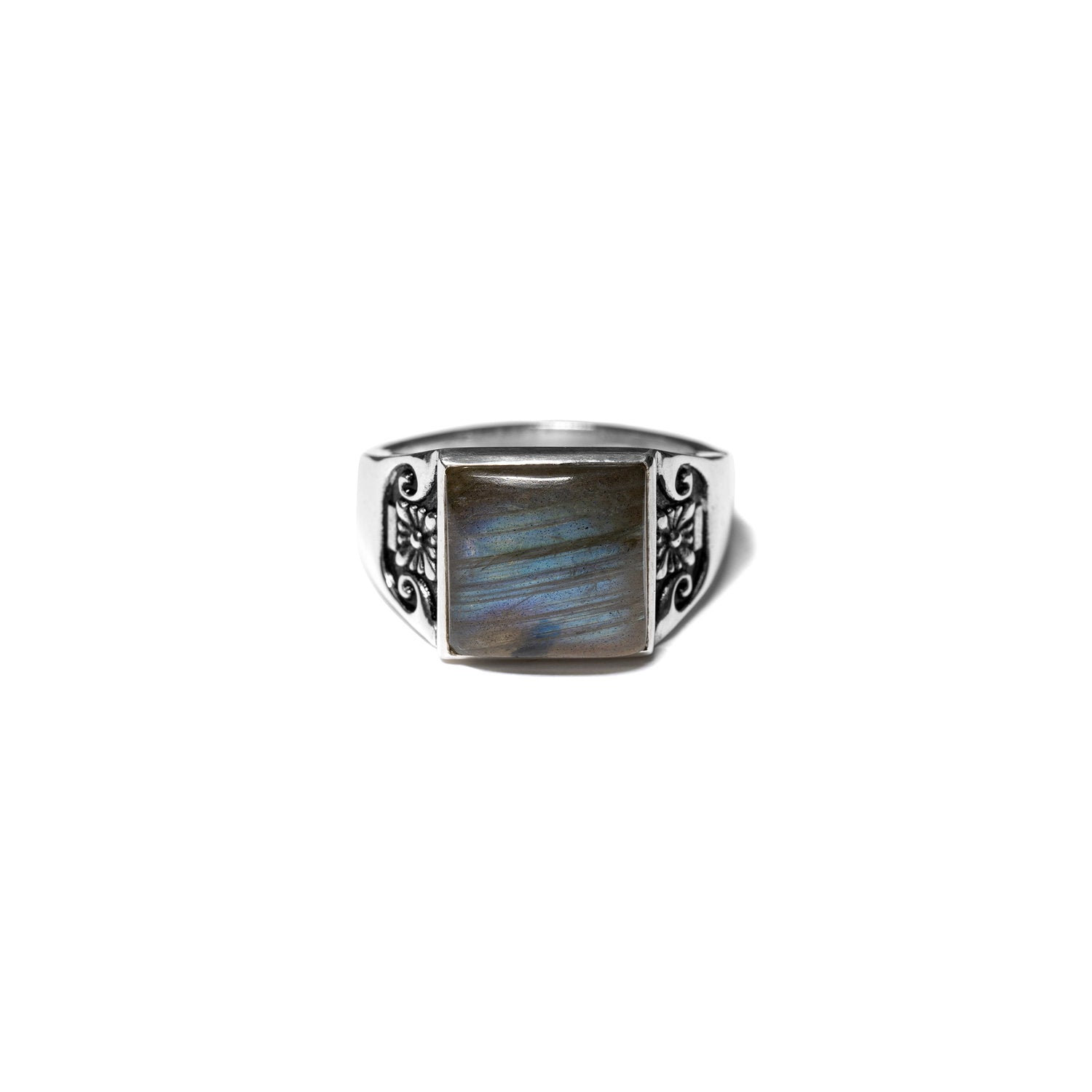 MAPLE JEWELERY COLLEGIATE RING (SILVER/LABRADORITE)
