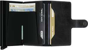 SECRID WALLETS MINIWALLET VINTAGE BLACK