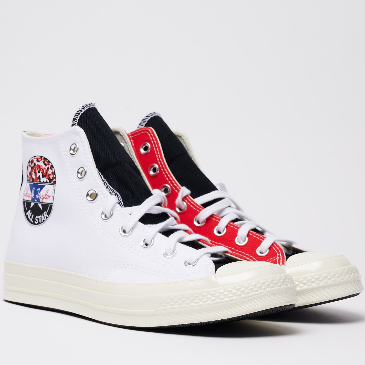 CONVERSE M'S FOOTWEAR LOGO PLAY CHUCK 70 HIGH TOP - WHITE/UNIVERSITY RED/RUSH BLUE