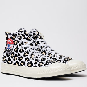 CONVERSE M'S FOOTWEAR LOGO PLAY CHUCK 70 HIGH TOP - WHITE/BLACK/DESERT ORE