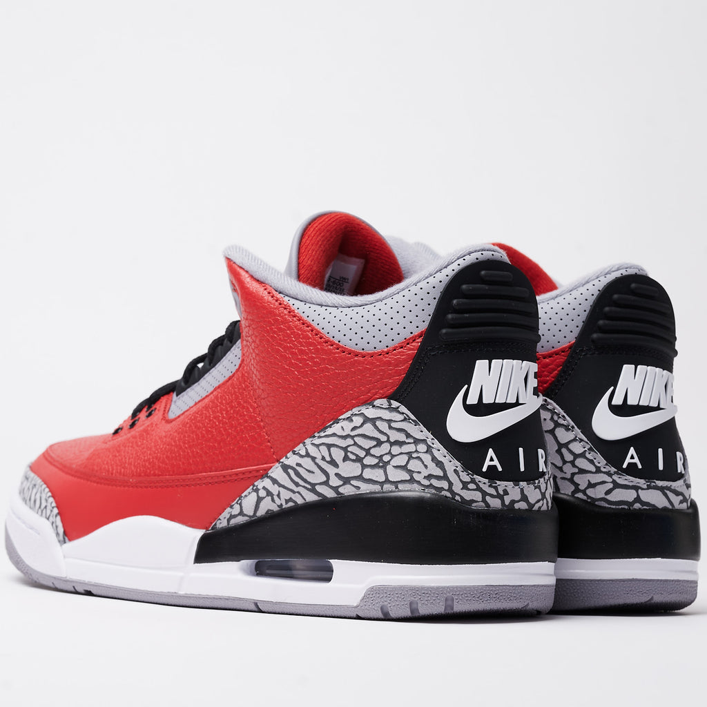 JORDAN 3 RETRO SE - FIRE RED/FIRE RED-CEMENT GREY