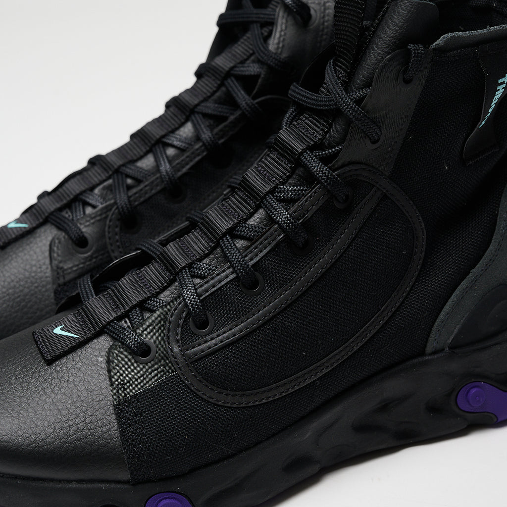 NIKE REACT IANGA - BLACK/LIGHT AQUA-ANTHRACITE