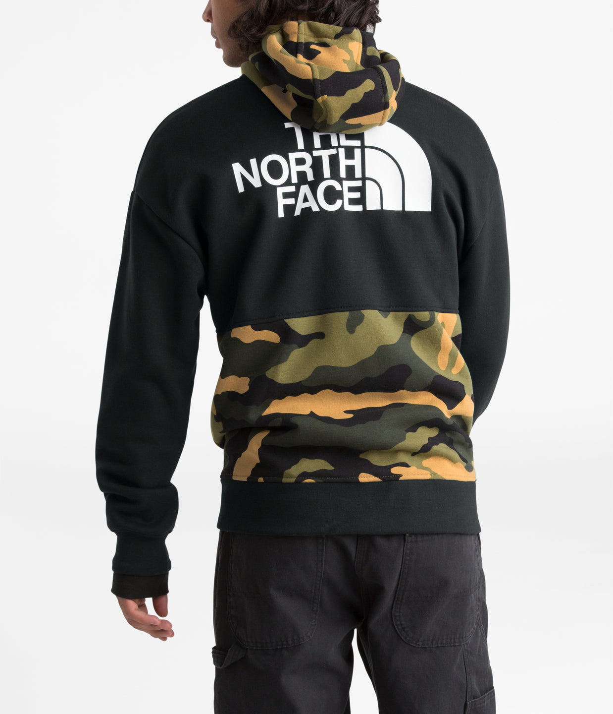 GRAPHIC COLLECTION ZIP HOODIE - BURNT OLIVE GREEN WOODS CAMO PRINT