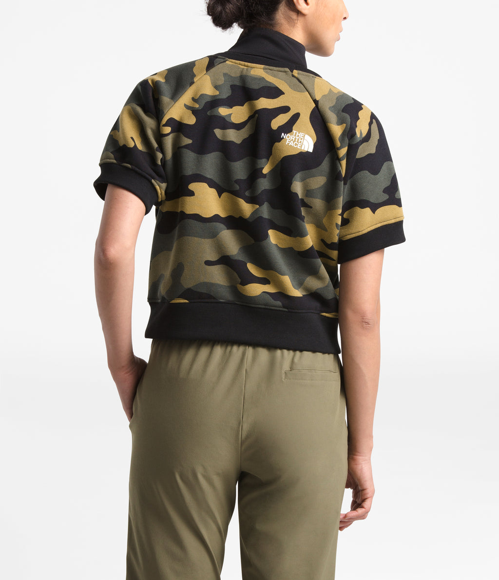GRAPHIC COLLECTION SHORT-SLEEVE CREW - BURNT OLIVE GREEN WOODS CAMO PRINT