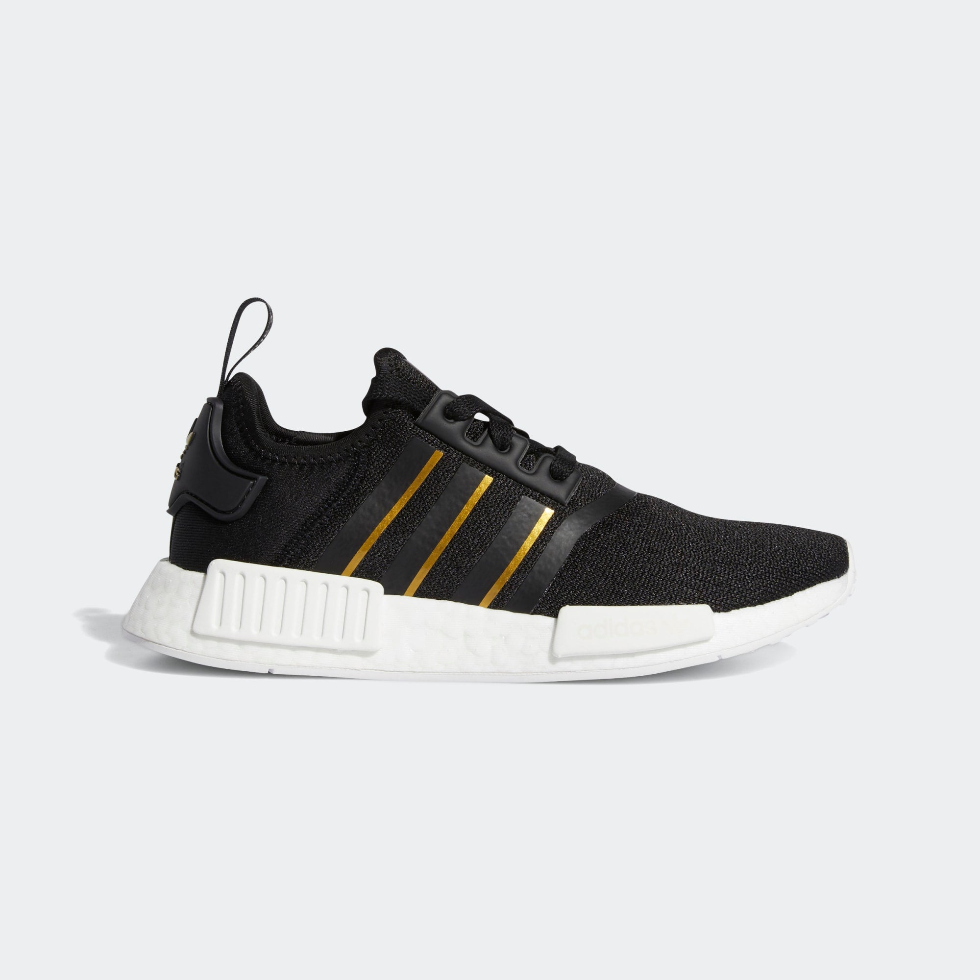 ADIDAS W'S FOOTWEAR NMD_R1 - CORE BLACK / METALLIC GOLD