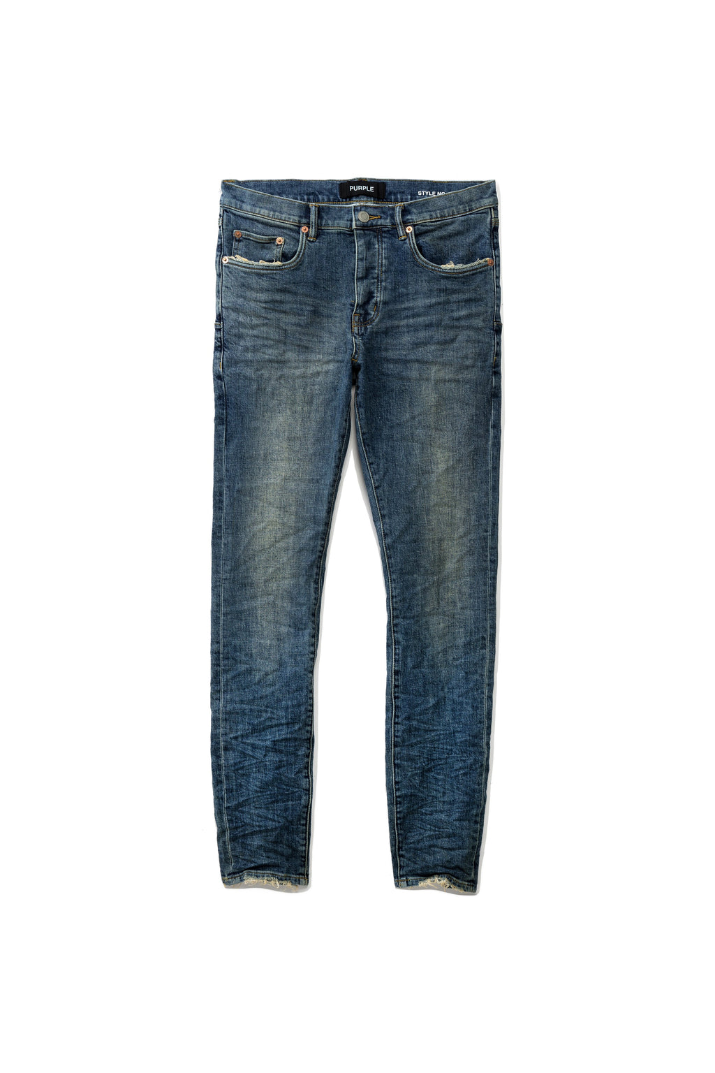 P001 LOW RISE WITH SLIM LEG - MID BLUE