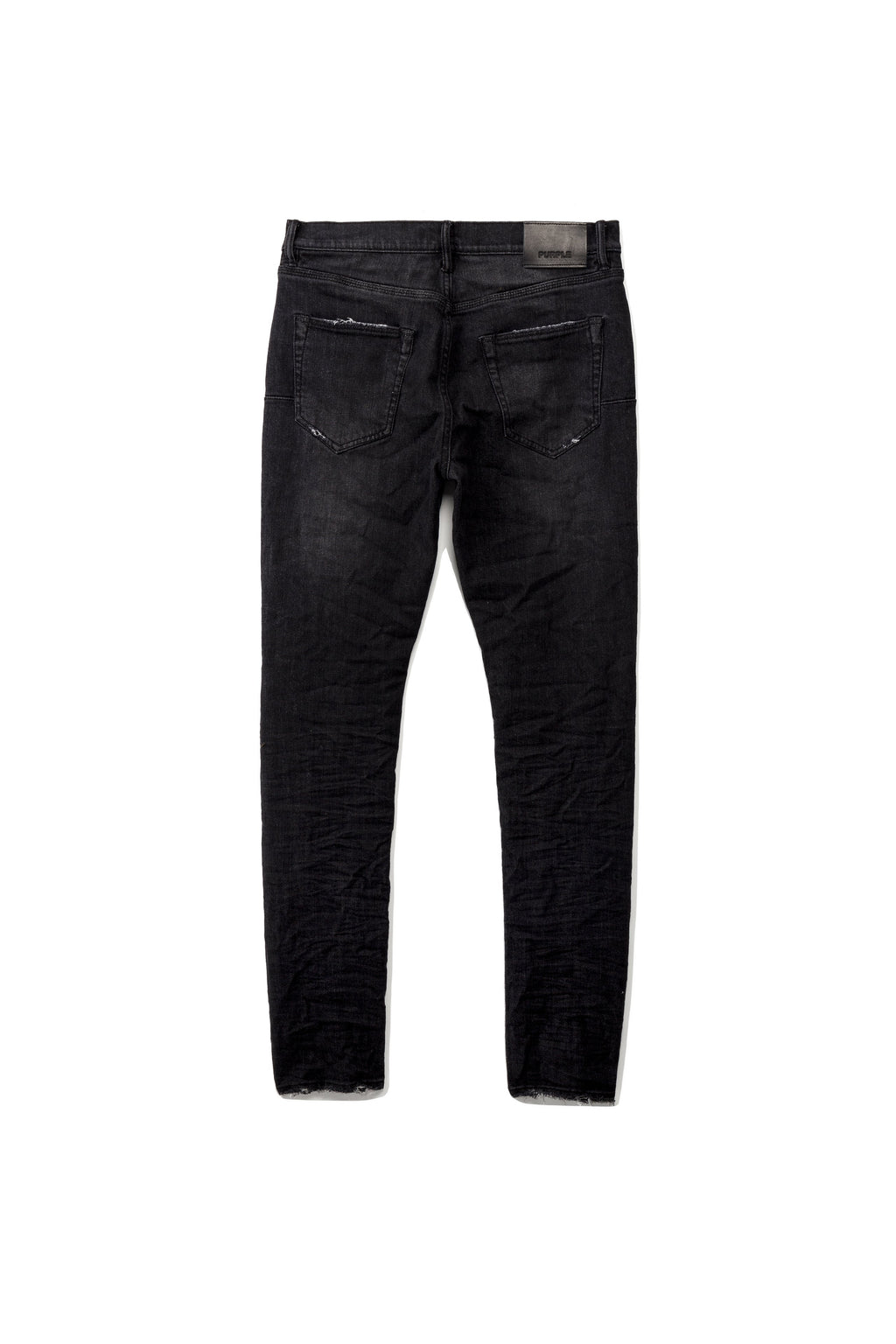 P001 LOW RISE WITH SLIM LEG - BLACK OVER SPRAY