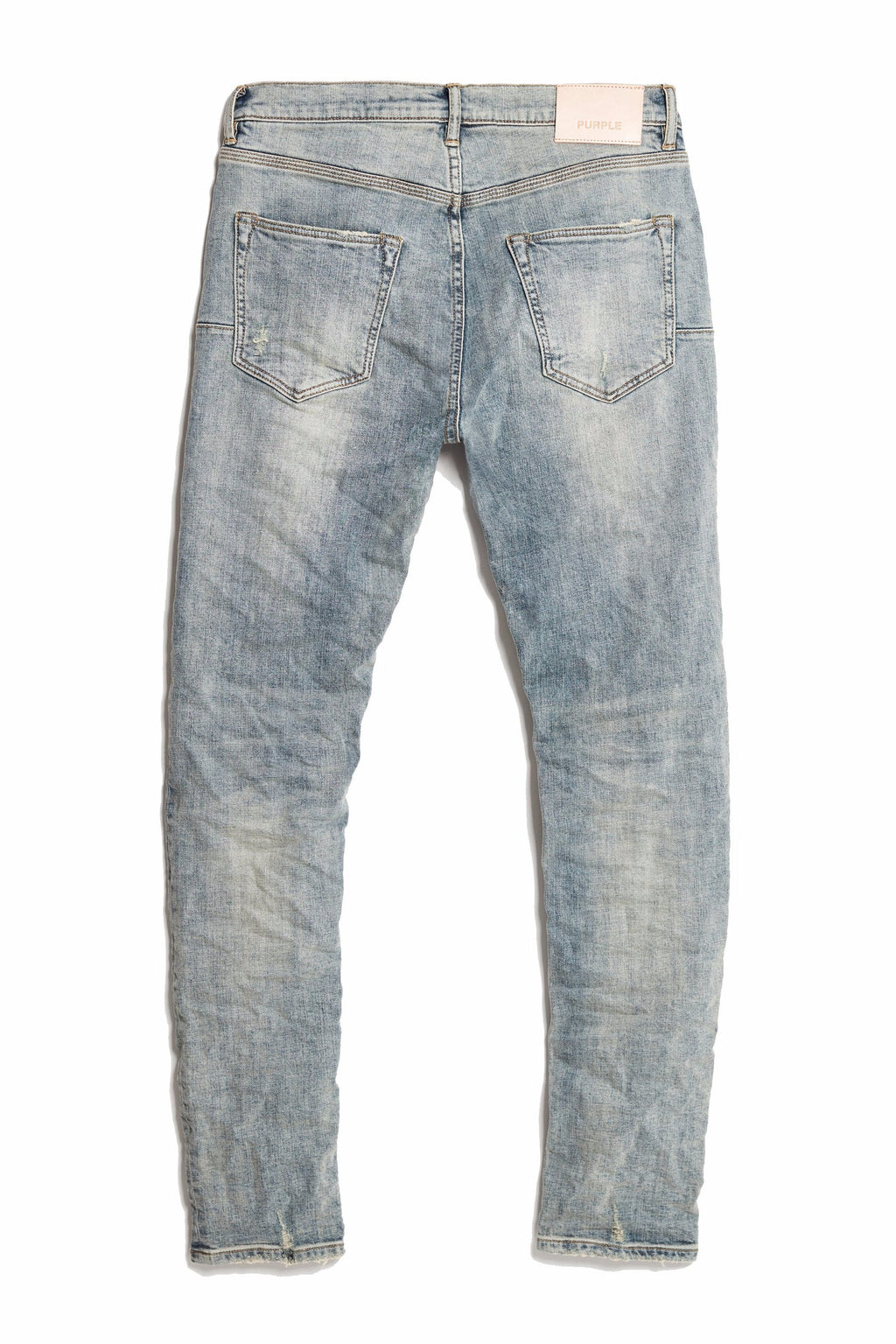 P001 LOW RISE WITH SLIM LEG - LIGHT INDIGO REPAIR