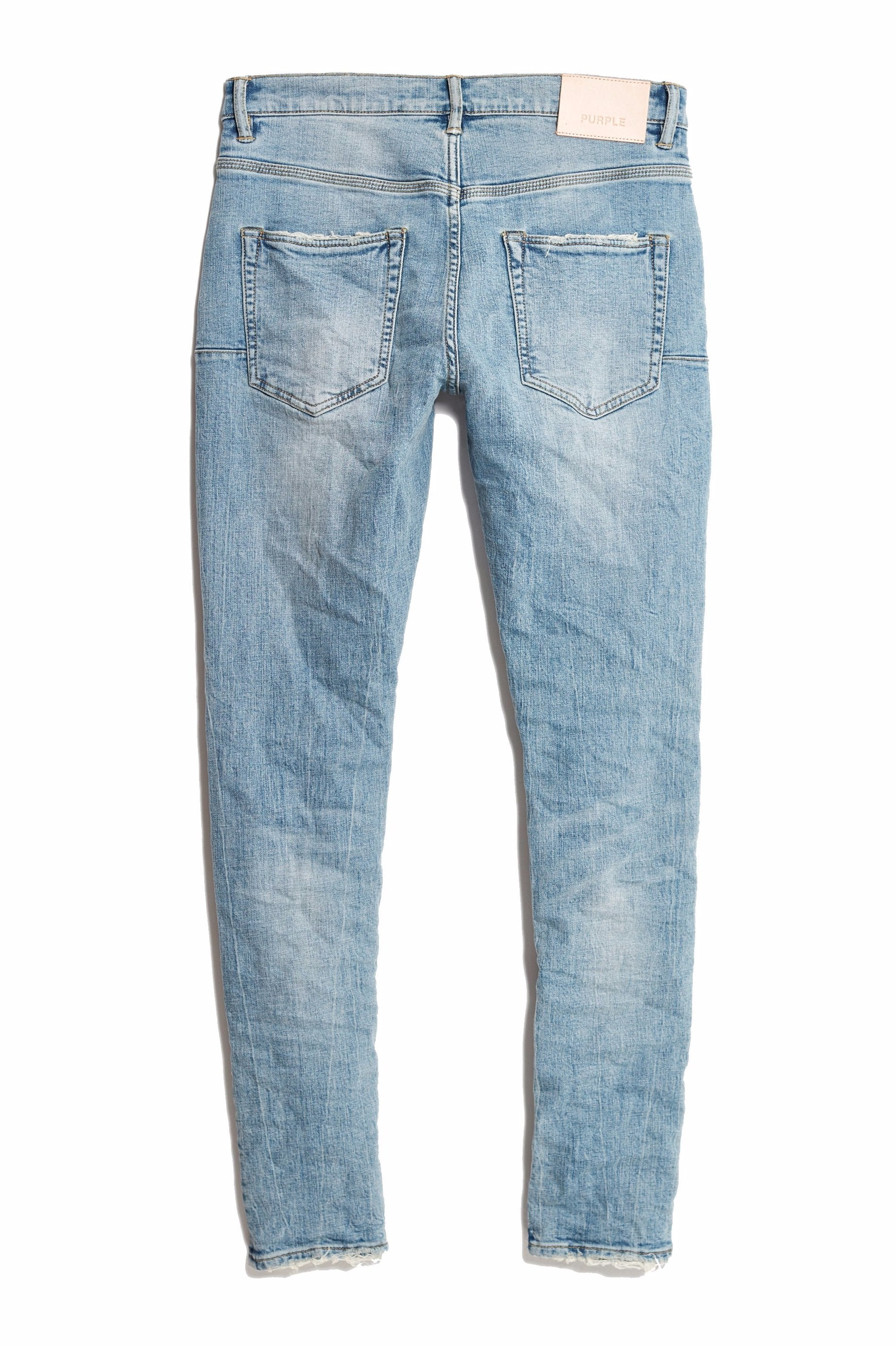 P002 MID RISE WITH TAPERED LEG - LIGHT INDIGO BLOWOUT