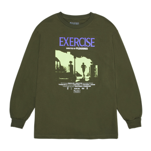 PLEASURES M'S T-SHIRTS EXERCISE LONG SLEEVE T-SHIRT