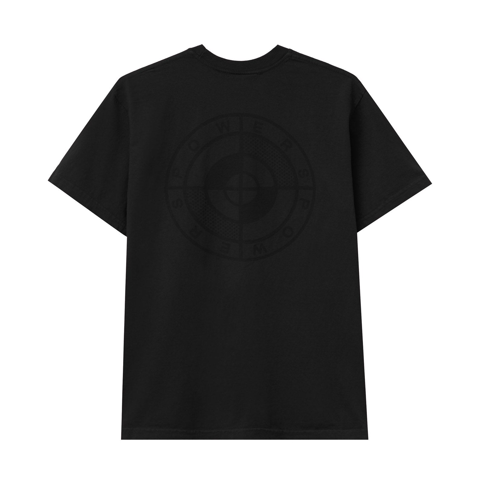 POWERS SUPPLY M'S T-SHIRTS POWERS LOGO SS TEE - BLACK