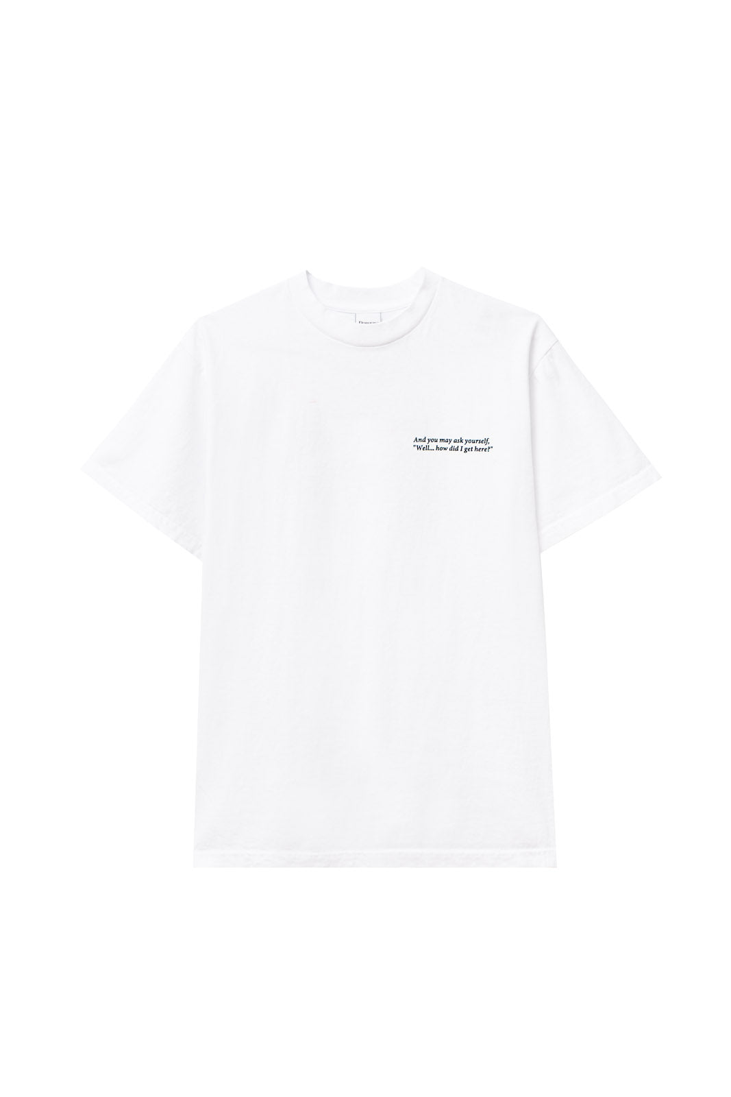 POWERS SUPPLY M'S T-SHIRTS REAL WORLD SS TEE - WHITE
