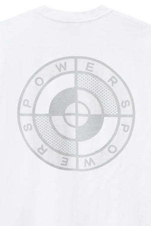 POWERS SUPPLY M'S T-SHIRTS POWERS LOGO SS TEE - WHITE