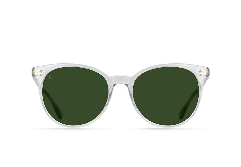 NORIE SUNGLASSES FOG CRYSTAL / BOTTLE GREEN