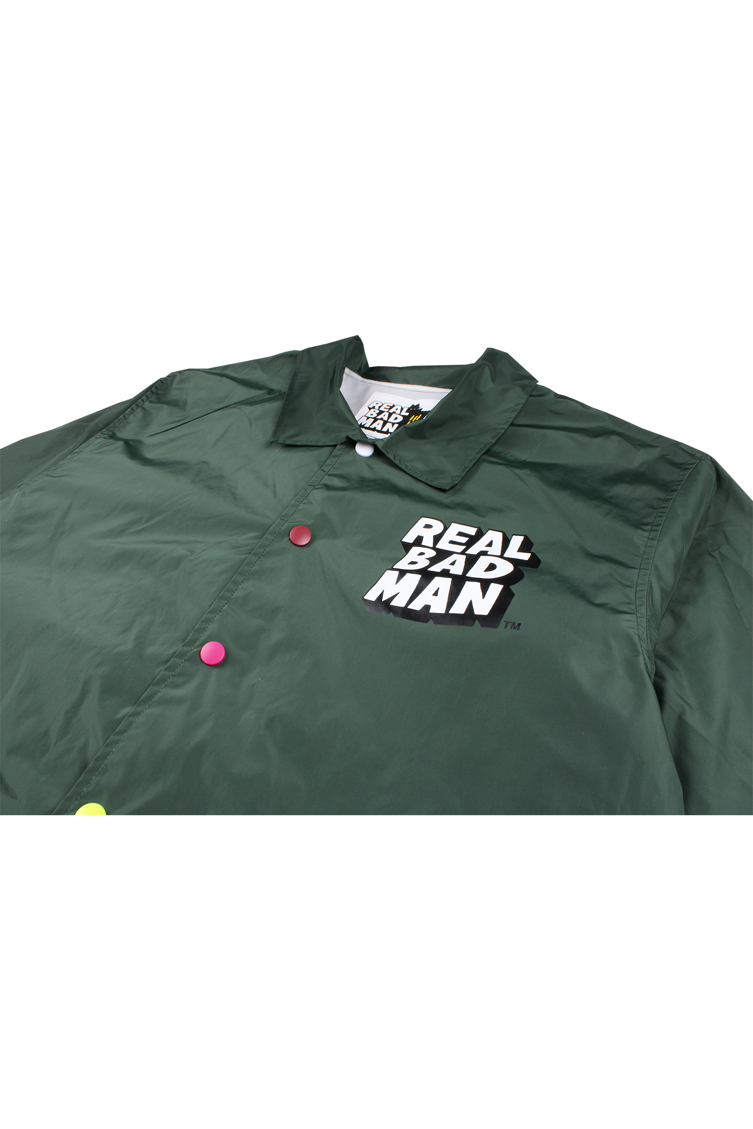 REAL BAD MAN M'S CASUAL JACKETS FLIPPED COACHES JACKET