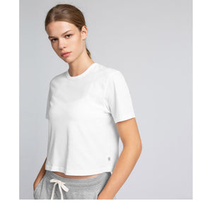 REIGNING CHAMP W'S T-SHIRTS WHITE XS BOX FIT T-SHIRT