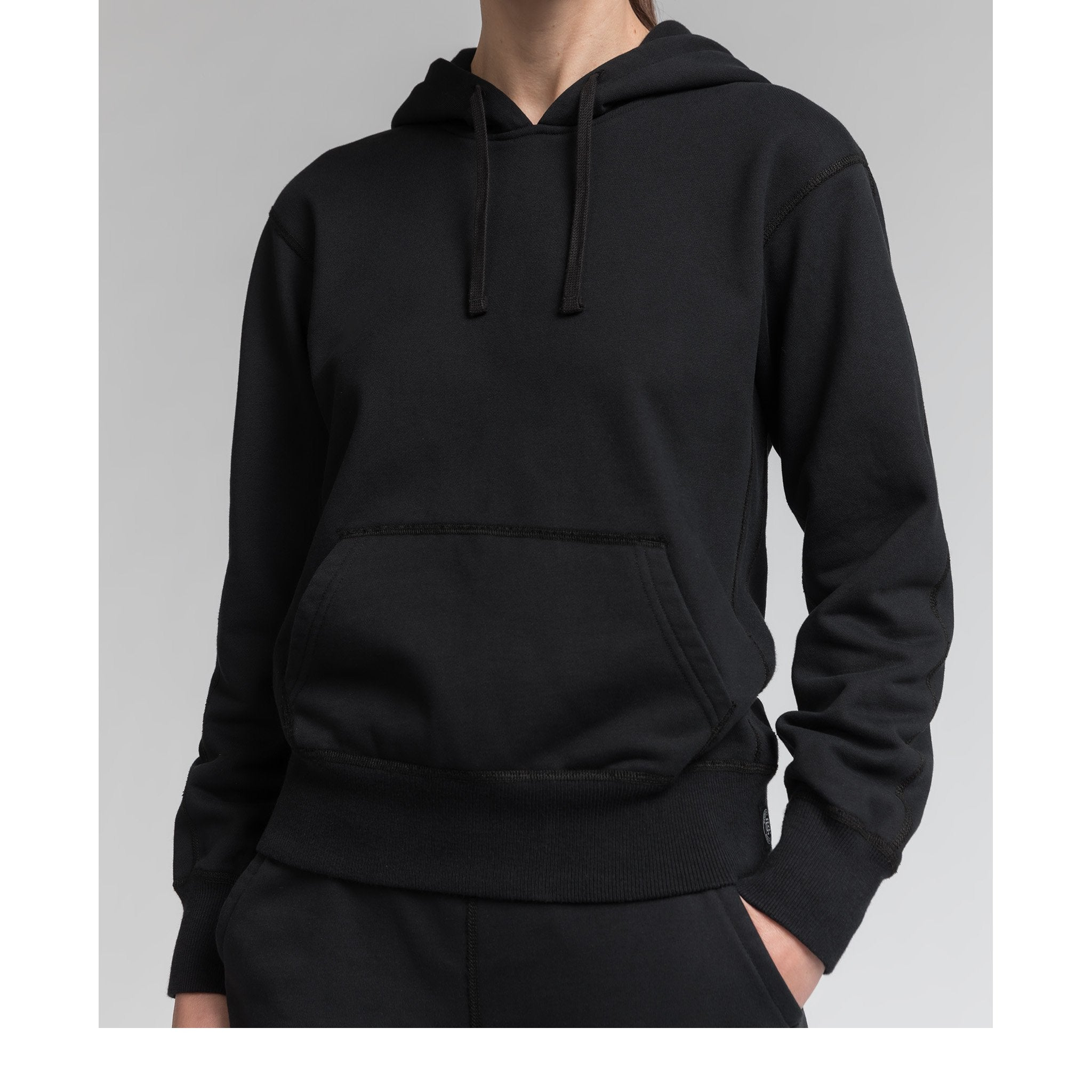 REIGNING CHAMP W'S HOODIES BLACK XS RELAXED HOODIE