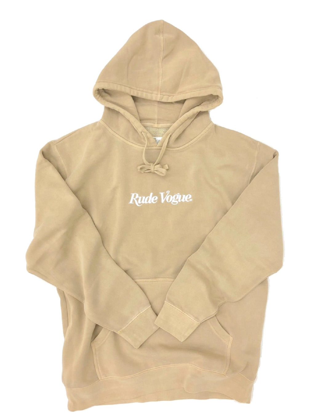 RUDE VOGUE HOODIE - WASHED SAND