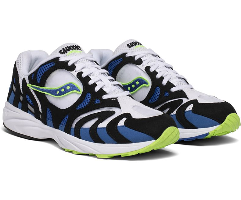 SAUCONY M'S FOOTWEAR GRID AZURA 2000 - WHITE / BLUE / LIME