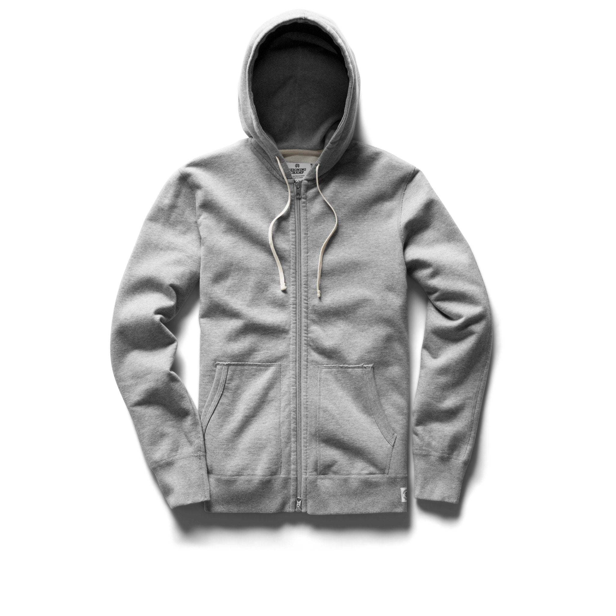 REIGNING CHAMP M'S HOODIES HEATHER GREY XL FULL ZIP HOODIE