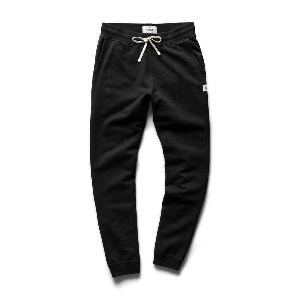 REIGNING CHAMP M'S PANTS Blk M MID WEIGHT SLIM SWEATPANT