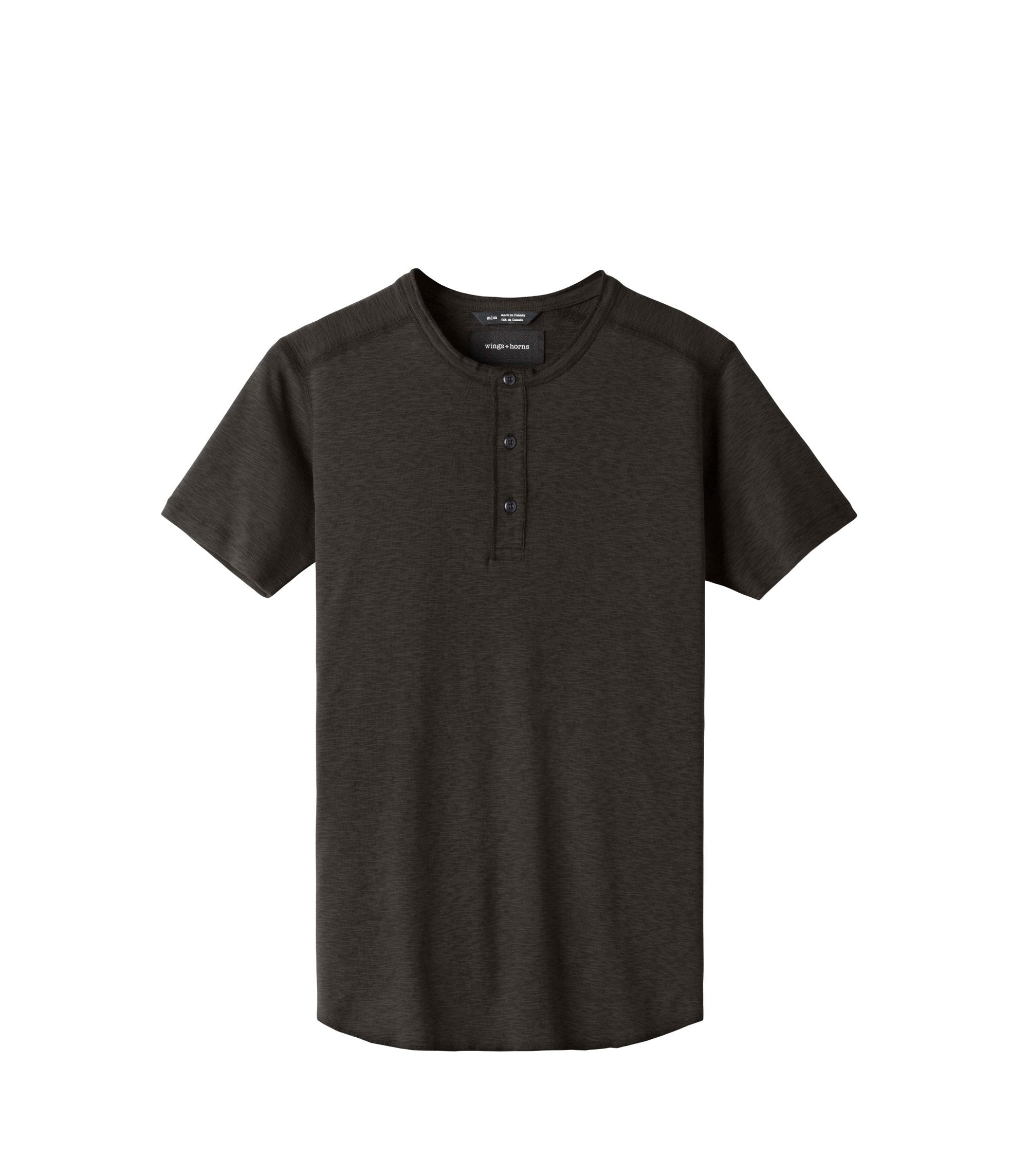 WINGS + HORNS M'S T-SHIRTS STO L BASE S/S HENLEY
