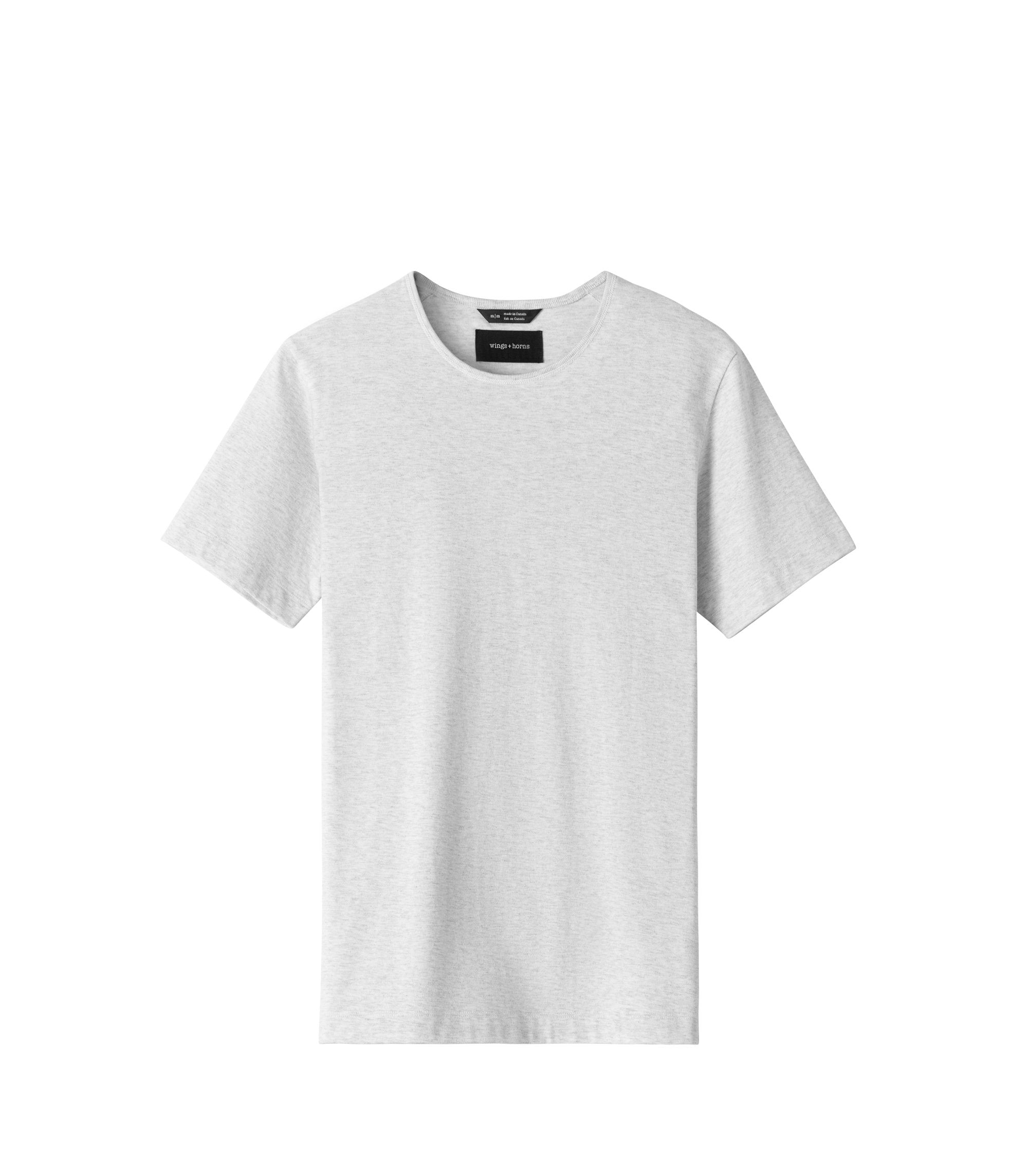 WINGS + HORNS M'S SHIRTS Wht S PIMA JERSEY T-SHIRT