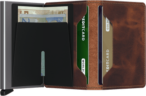 SECRID WALLETS SLIMWALLET VINTAGE BROWN