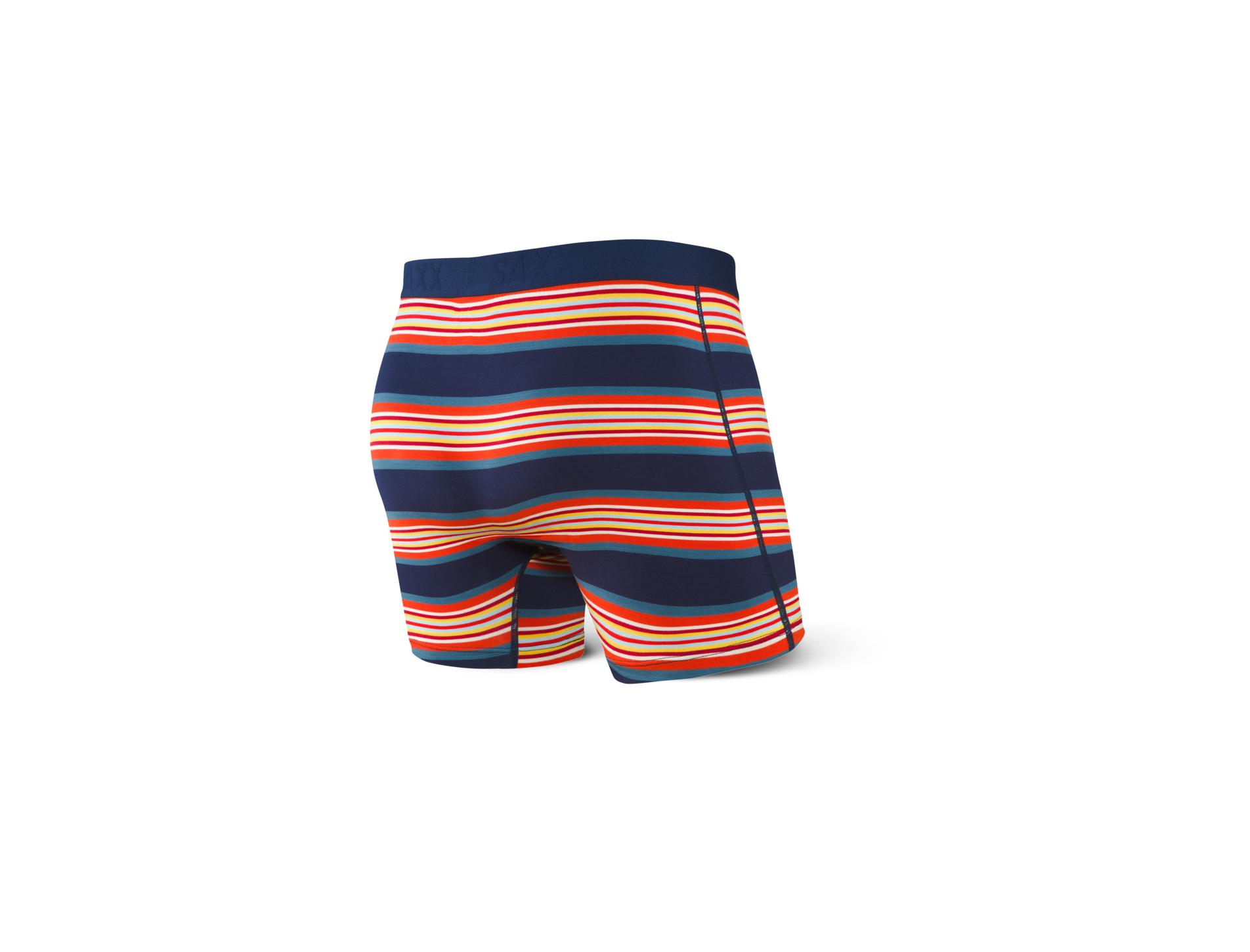 SAXX M'S UNDERWEAR ULTRA BOXER BRIEF - NAVY BANNER STRIPE