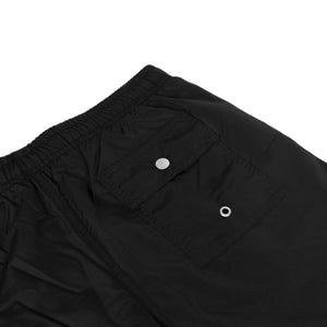 BATHER M'S SHORTS SOLID BLACK SWIM TRUNK