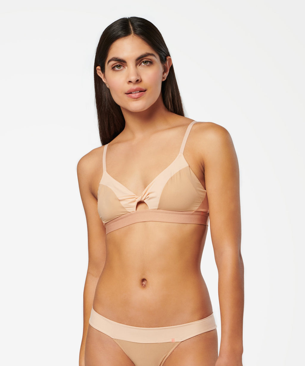 TWISTED TRIANGLE NYLON - BRALETTE