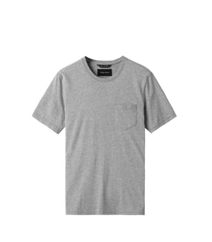 WINGS + HORNS M'S T-SHIRTS HEATHER GRY S ORIGINAL POCKET T-SHIRT