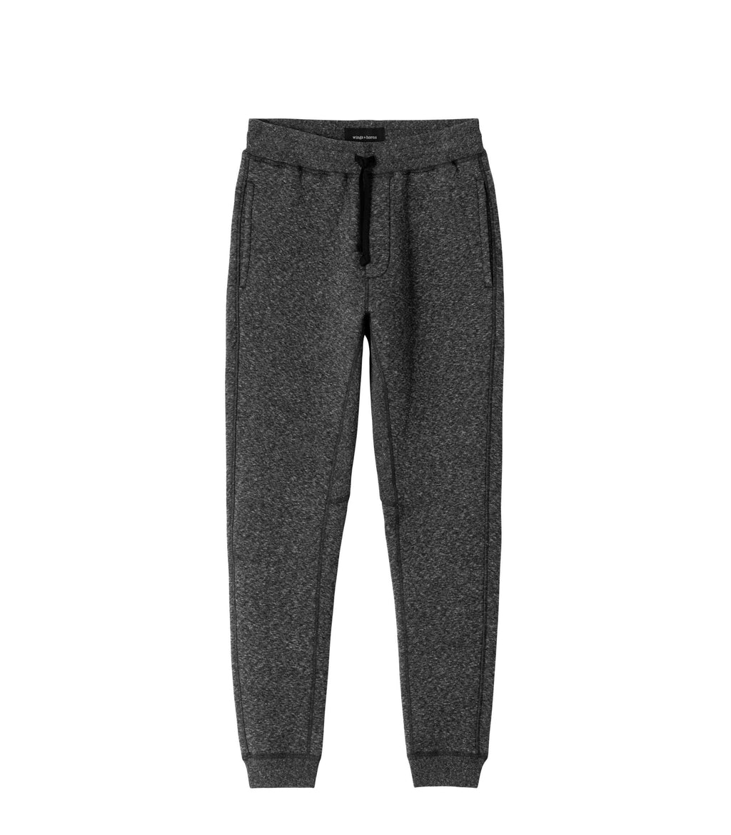 CABIN FLEECE PANT - MELANGE BLACK