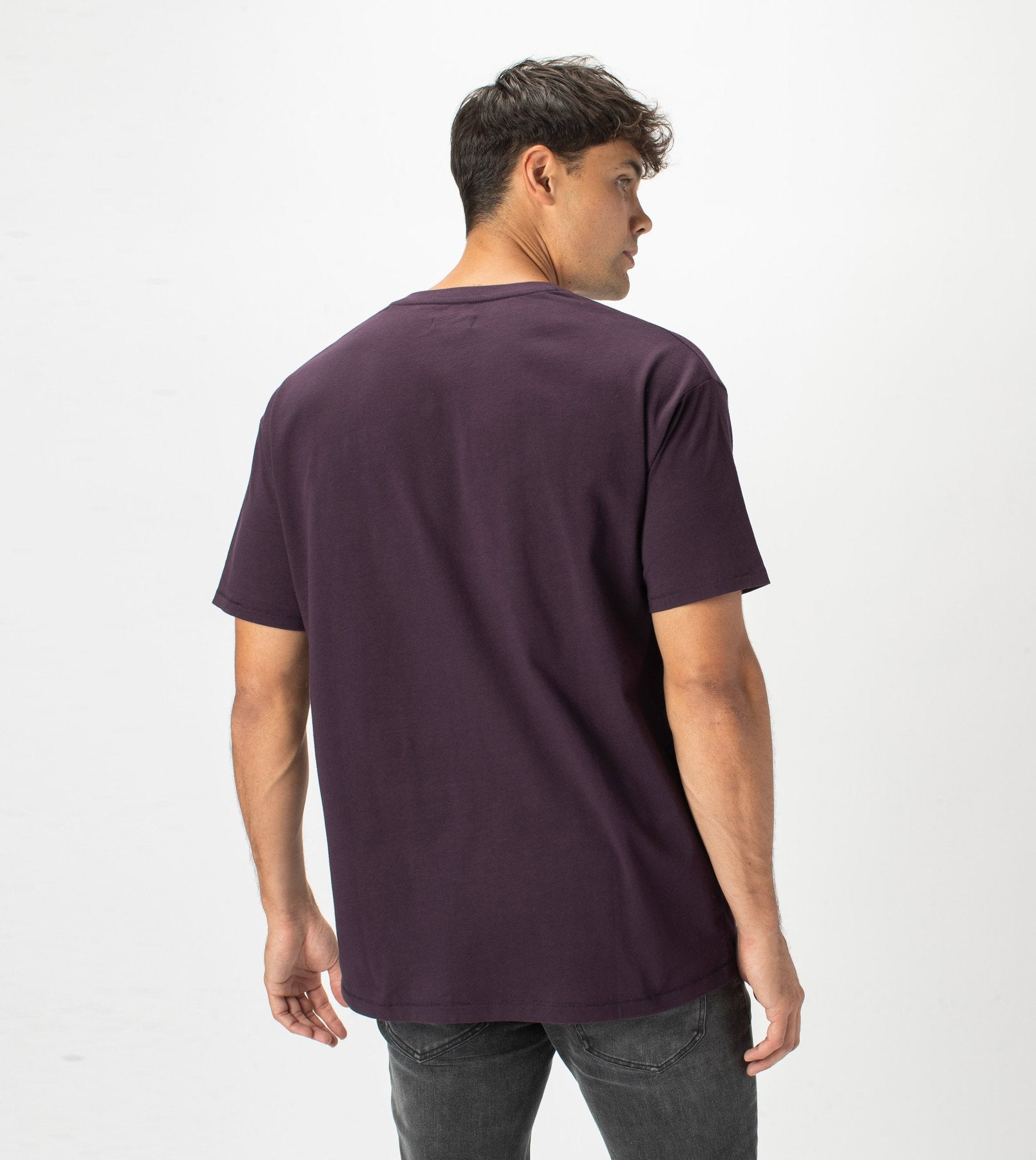 ZANEROBE M'S T-SHIRTS BOX TEE - DK GRAPE