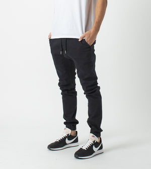 ZANEROBE M'S PANTS SURESHOT DENIM JOGGER - BLACK WASH