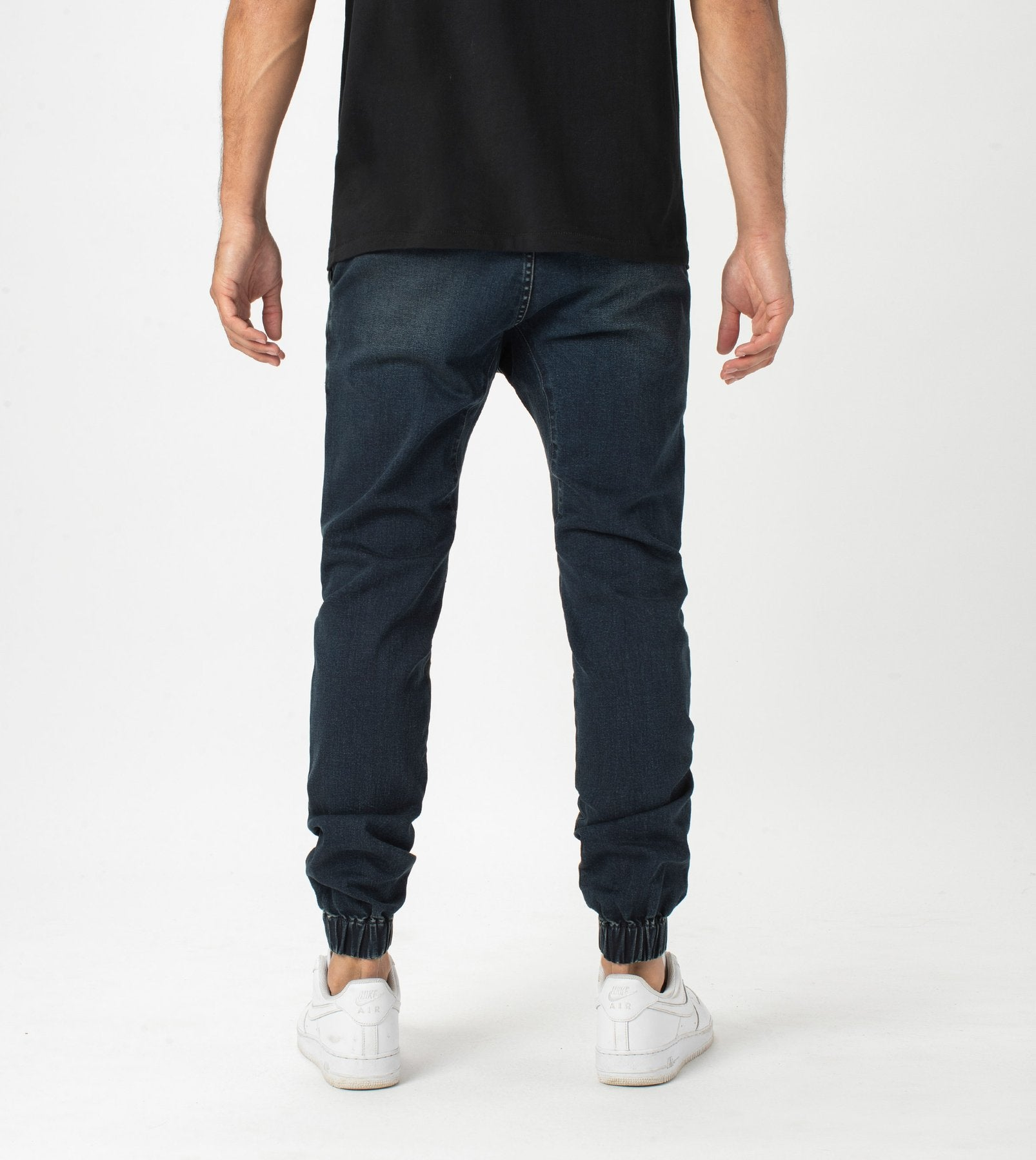 ZANEROBE M'S PANTS SURESHOT DENIM JOGGER DEEP SEA