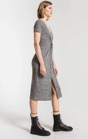 Z SUPPLY W'S DRESSES WAFFLE THERMAL TWIST FRONT DRESS