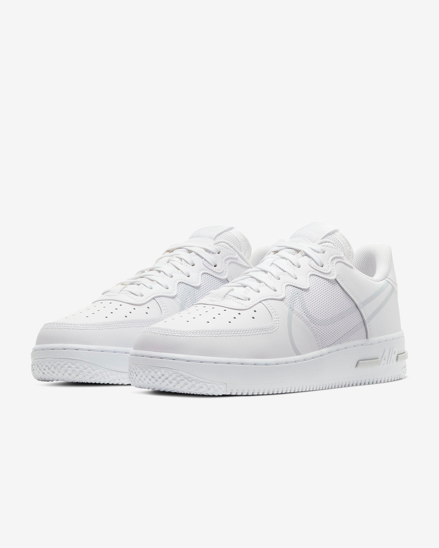 NIKE M'S FOOTWEAR AIR FORCE 1 REACT - WHITE/PURE PLATINUM