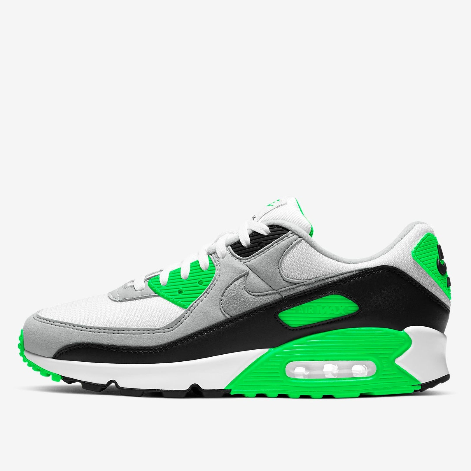 NIKE M'S FOOTWEAR AIR MAX 90 - WHITE/LIGHT SOLAR FLARE