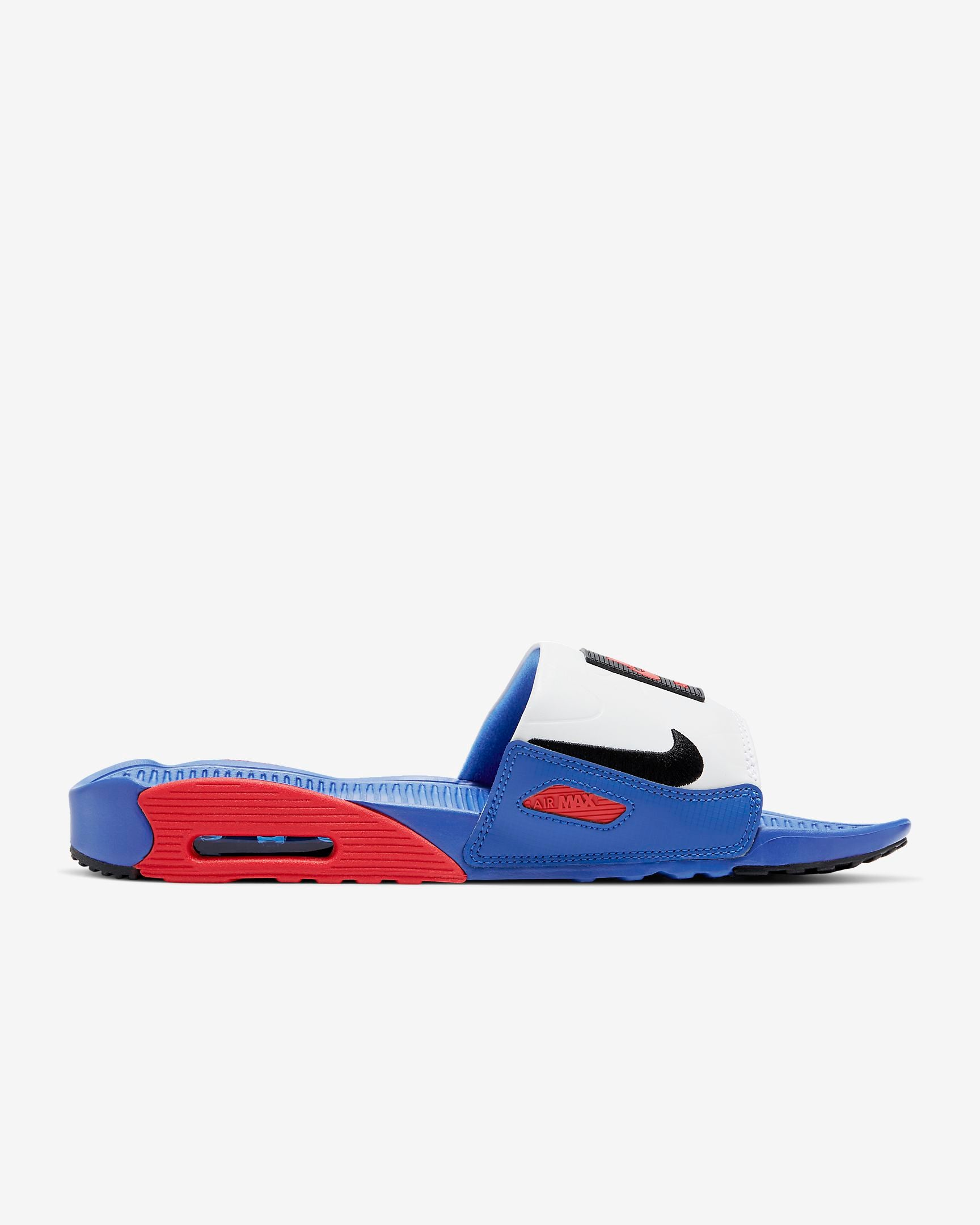 NIKE M'S SANDALS AIR MAX 90 SLIDE - GAME ROYAL/UNIVERSITY RED