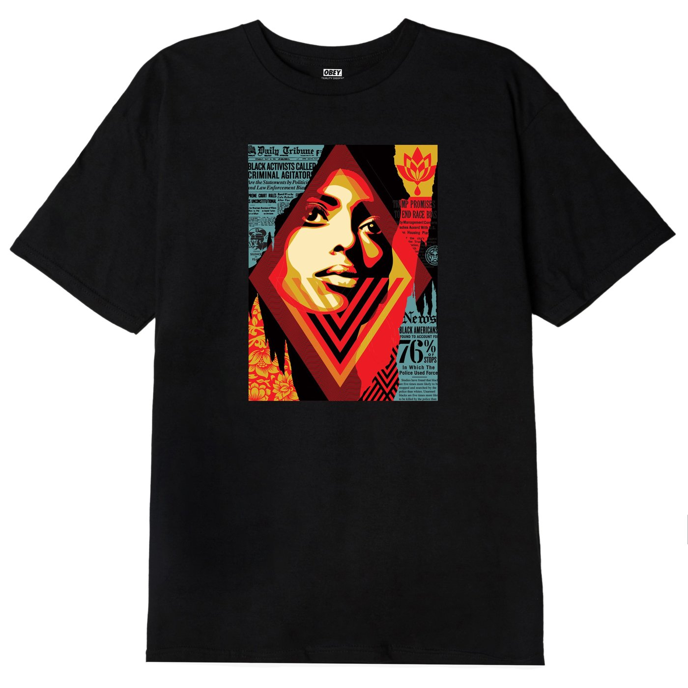 OBEY M'S T-SHIRTS OBEY BIAS BY NUMBERS CLASSIC T-SHIRT