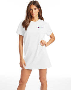 CHAMPION W'S DRESSES WHITE XS BOYFRIEND TEE DRESS