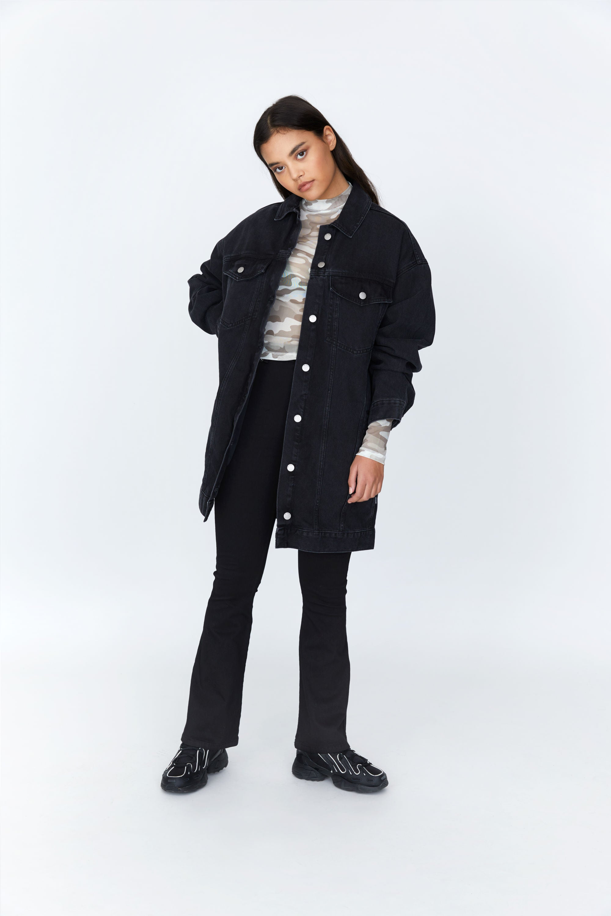 DR. DENIM W'S CASUAL JACKETS KHALILA COAT - CHARCOAL
